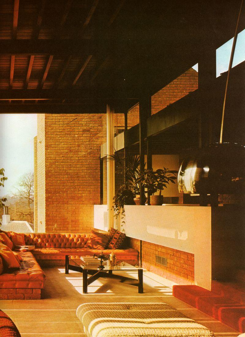 Inneneinrichtung ideen wohnen 1970er einrichtung nobles wohnzimmer vintage einrichtungen midcentury