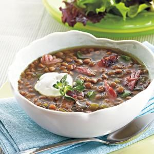 Best Slow-Cooker Soups and Stews | Smoked Turkey-Lentil Soup | MyRecipes.com