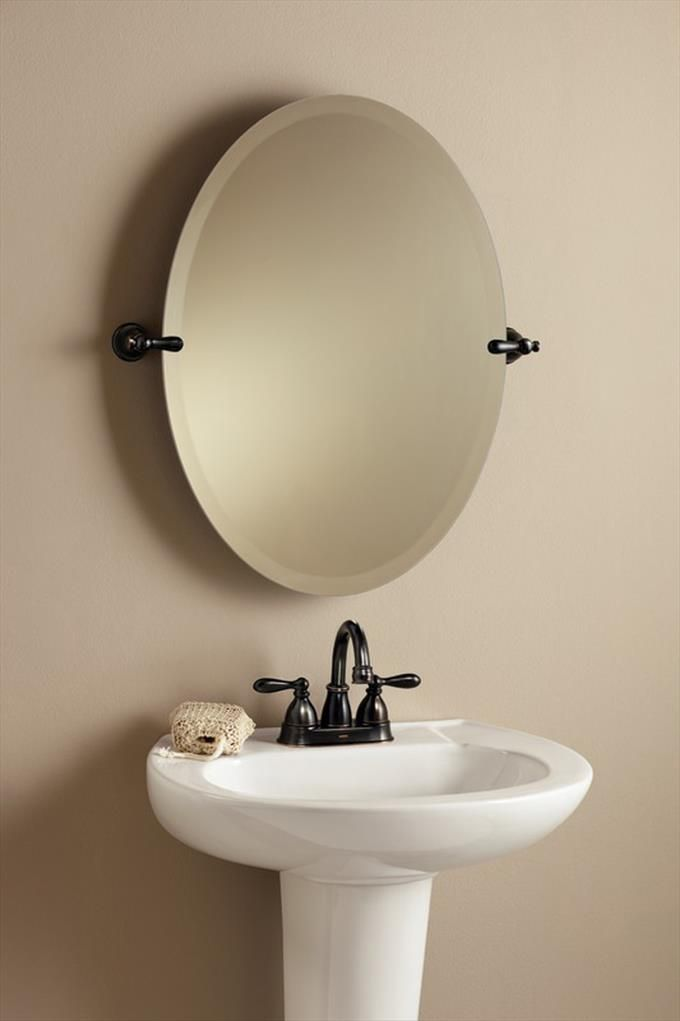 Moen Bathroom Faucets and Sink with Mirror