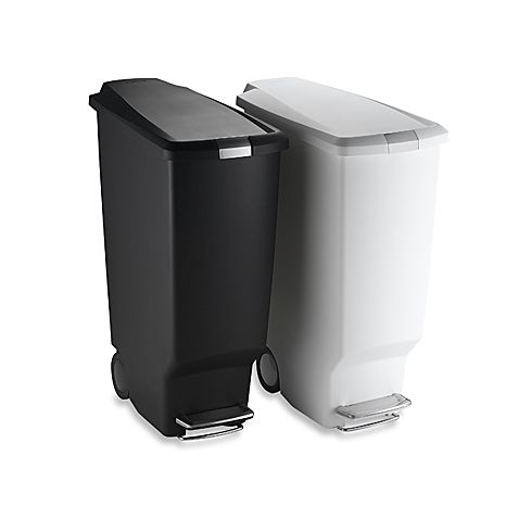 Best Simplehuman® Slim Plastic 40 Liter Step On Trash Can 400 x 300