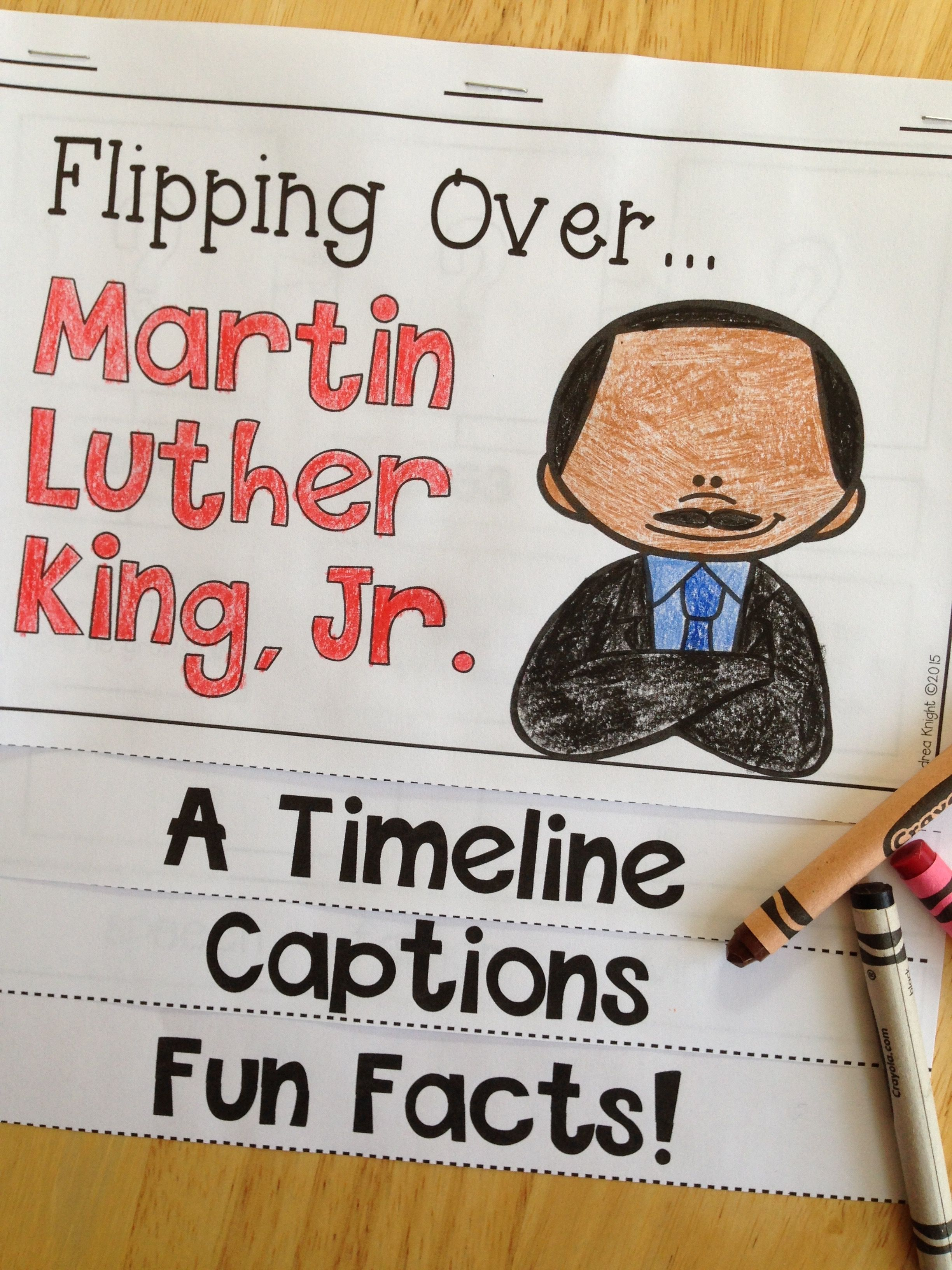 Flipping Over Mlk Jr An Informational Flip Book For
