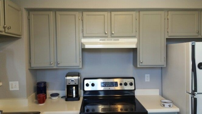 My Kitchen Cabinets Painted   Sabre Gray By Benjamin Moore.