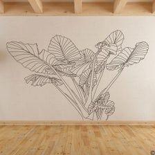 Elephant Ear no.3 Tropical Plant Wall Decal modern home decor | Etsy