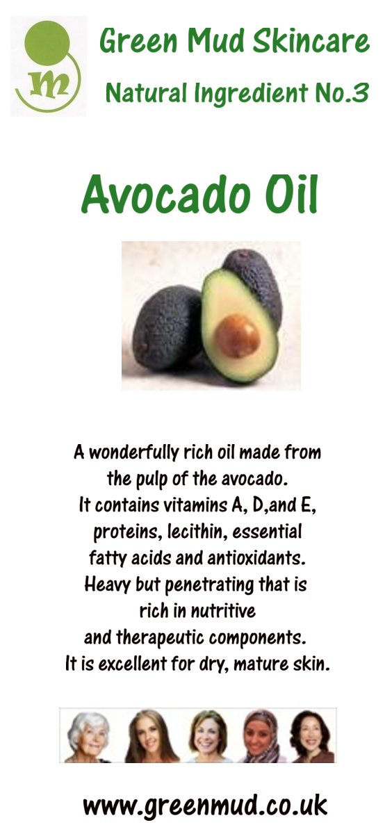 The many benefits of Avocado Oil. www.greeenmud.co.uk face