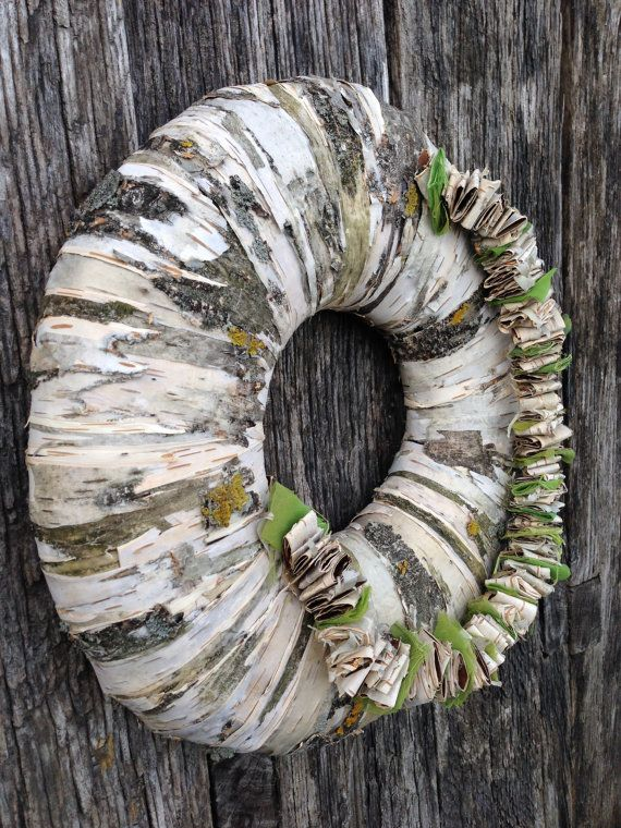 Photo of Items similar to spring wreath – mother's day wreath – summer – birch bark wreath – natural wreath – holiday door decor on Etsy