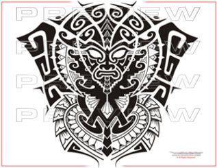 df6223a6d2909 perfect tribal mask tattoo design | aztec tattoo ideas | Mask tattoo ...