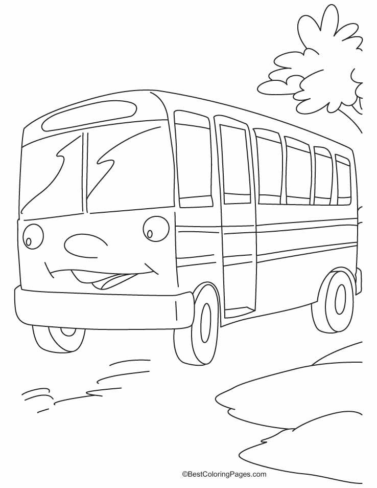 This Bus Is Waiting For The Riders Coloring Pages Download Free