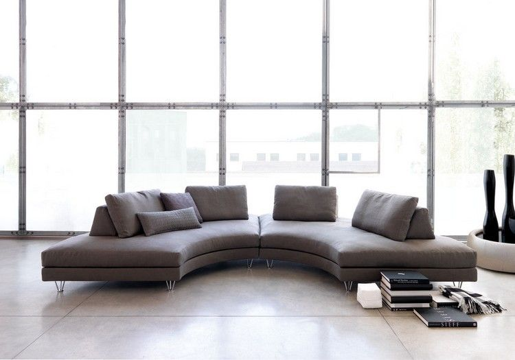 runde-sofas-modern-taupe-grau-FLY-G-Gualtierotti   Rundes ...