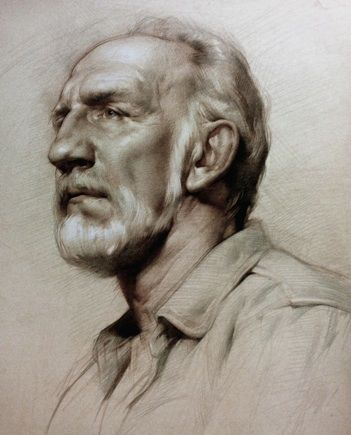 Colleen Barry, Portrait of Richard Three color chalk
