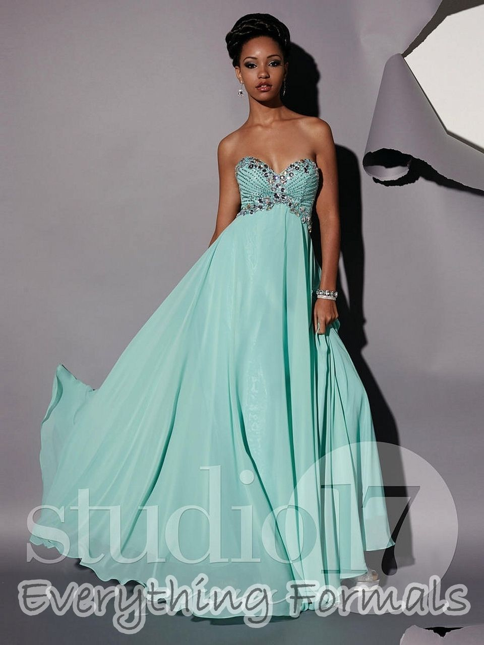 Studio 17 Long Dress 12434 | Dress collection, Neckline and Studio