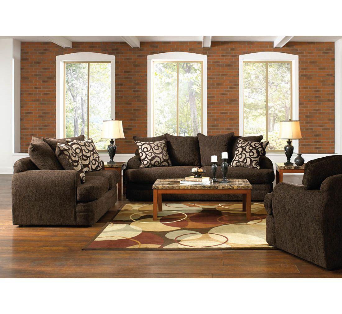 Best Santa Cruz Brown 14Pc Living Room Group Badcock More 400 x 300