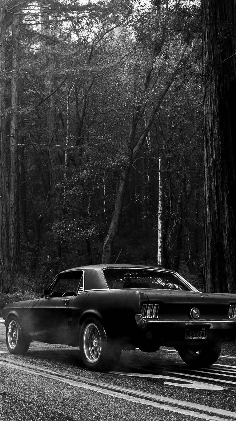 Black Muscle Car Iphone Wallpaper Iphone Wallpapers Pinterest