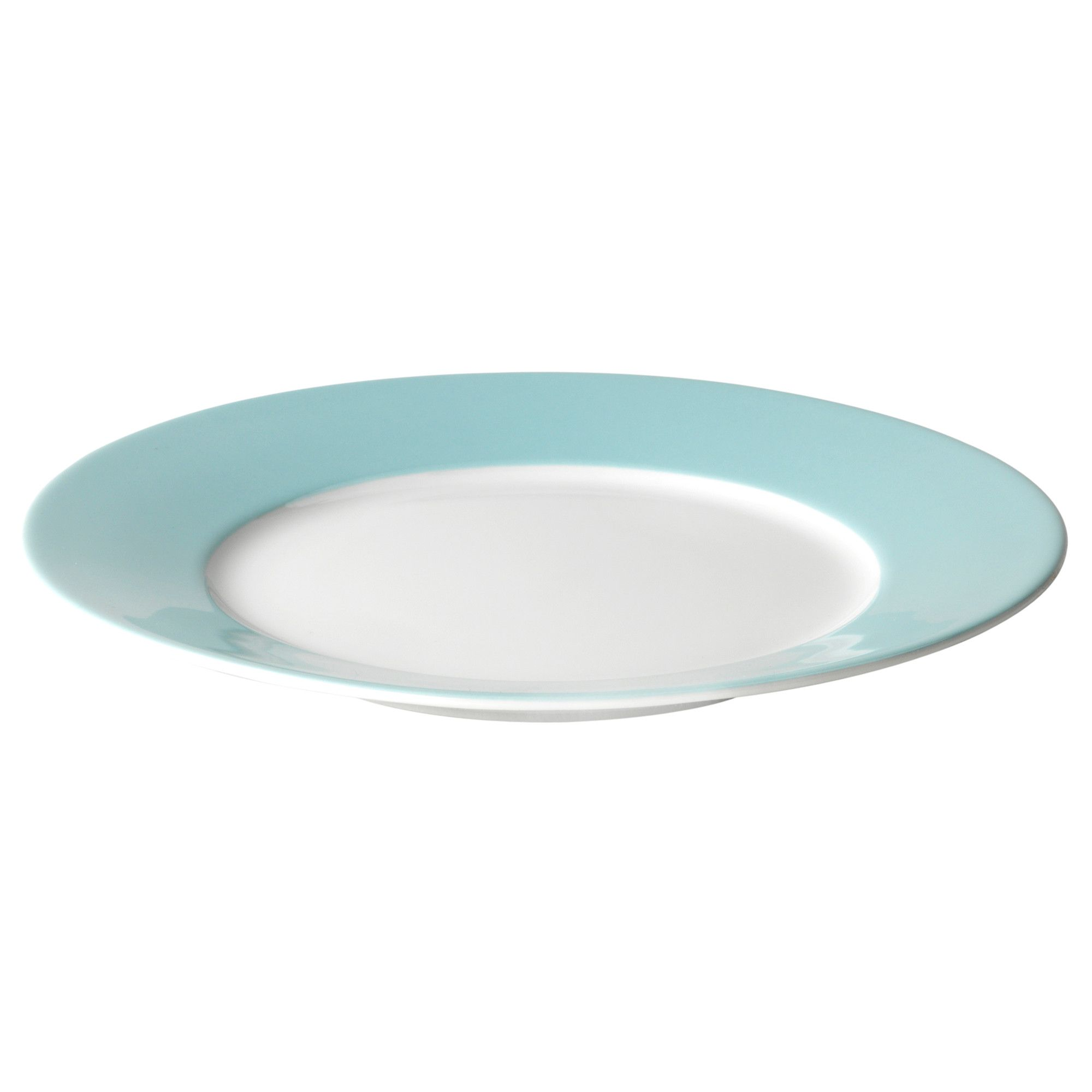 IKEA 365+ Side plate, white, light turquoise $2.99 - love this color ...