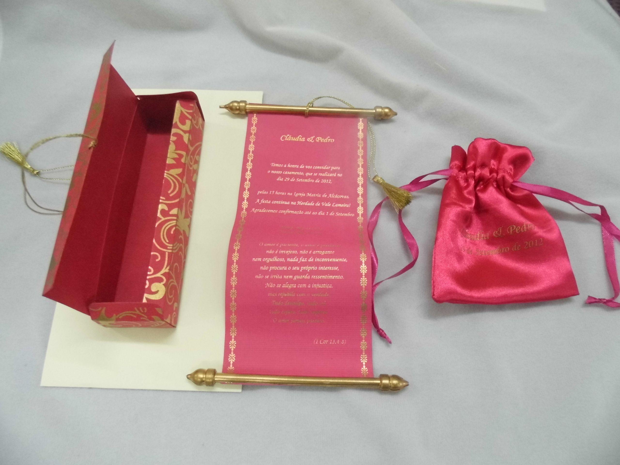 Fuchsia elegant scroll | E&J Wedding | Pinterest | Scroll wedding ...