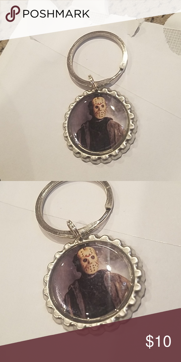 New Halloween horror jason voorhees keychain New Halloween horror Jason voorhees keychain handmade by me Accessories Key & Card Holders #jasonvoorhees