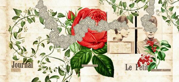 Collage set / La Berenjena by Yazmín Huerta, via Behance