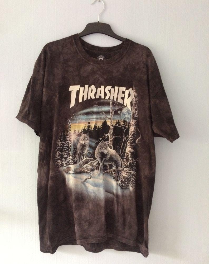 7a70047d THRASHER T-SHIRT size XL Wolf Mountain #Thrasher | breathes fashion ...
