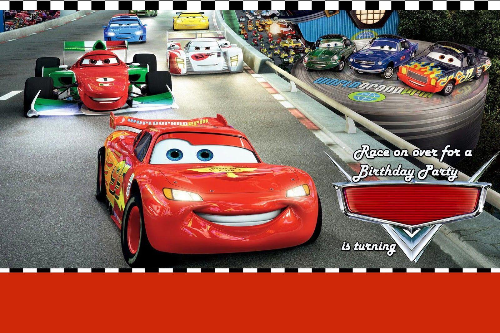 Disney Cars Invitations Templates Free Cars Birthday Invitations Car Birthday Party Invitations Cars Birthday Party Disney