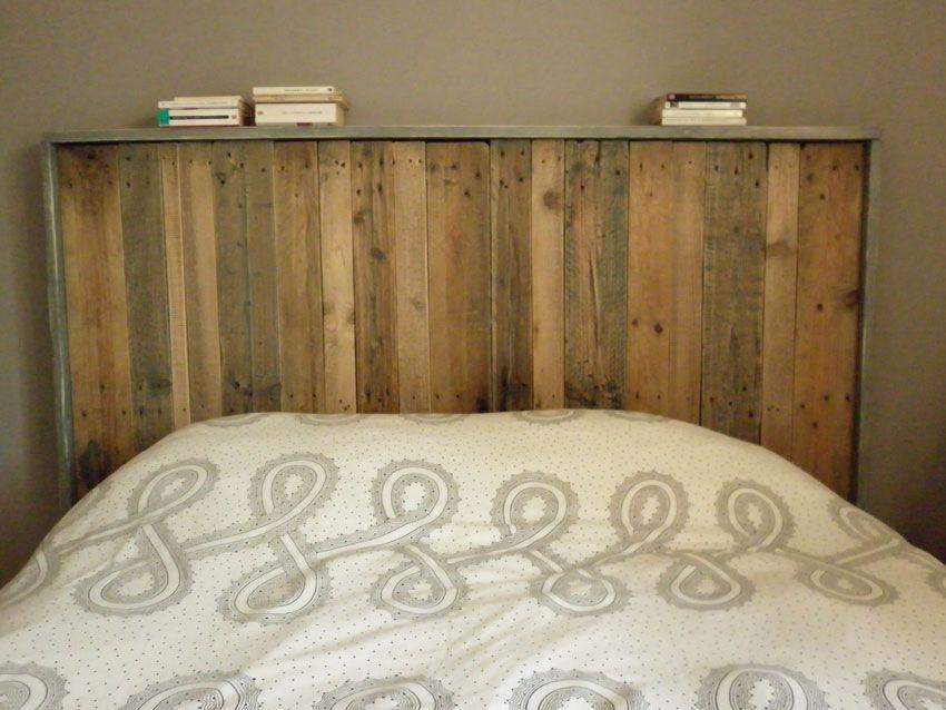 t te de lit fait maison partir de palettes maison pinterest t tes de lit faits maison. Black Bedroom Furniture Sets. Home Design Ideas