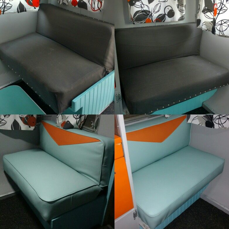 1959 DeVille Travel Trailer, We Reupholstered The Chairs