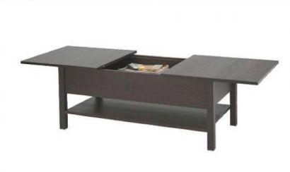 Coffee Table With Sliding Top Storage.Ikea Kolsvik Coffee Table With Sliding Top Storage And Extra Leaf