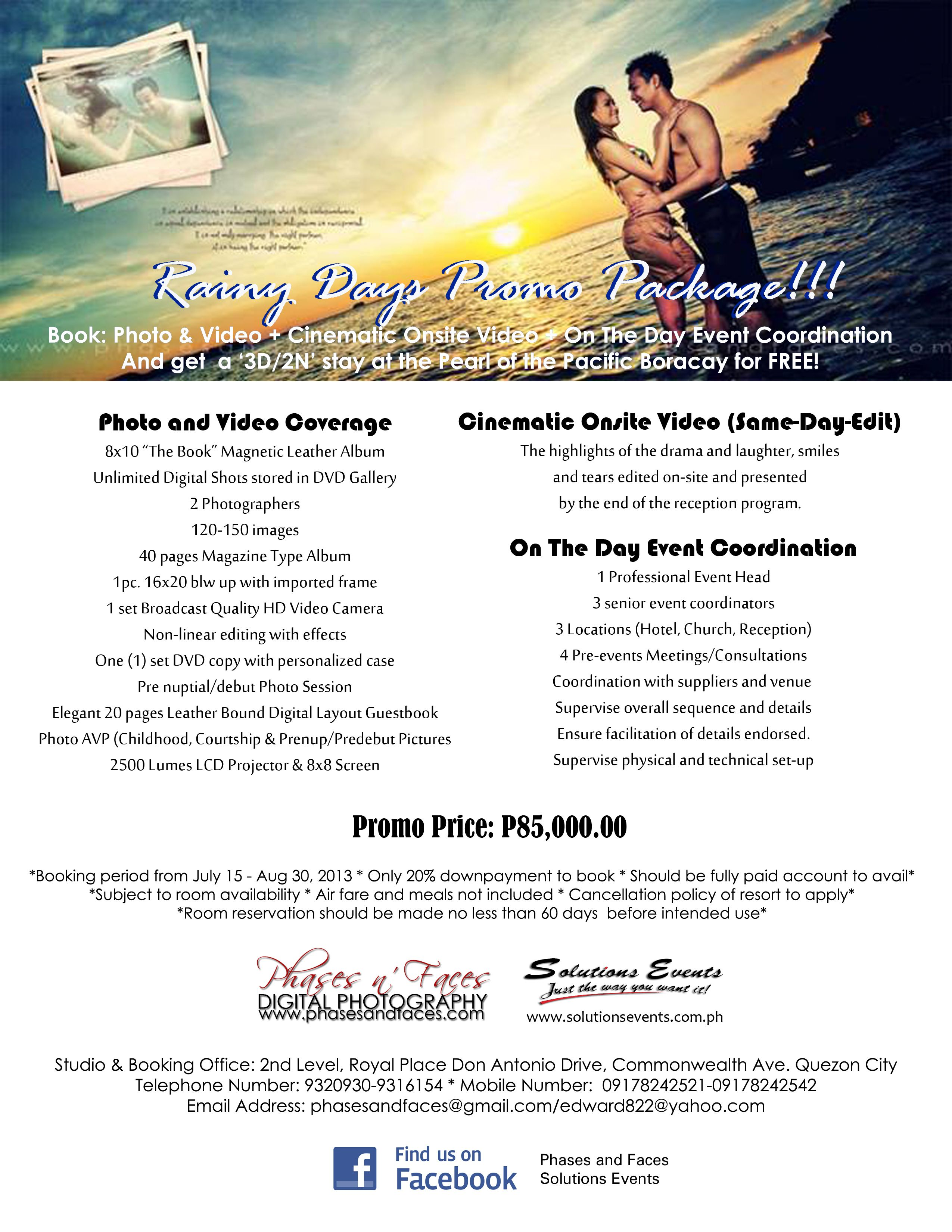 Rainy Day Promo Package From Phases N Faces Digital Photography 3 Rainydays