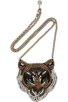 SHOUROUKTiger Swarovski crystal necklace