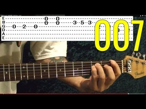 JAMES BOND Theme ( 007 ) - EASY Guitar Lesson - YouTube