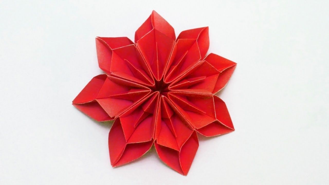 Eight Pointed Modular Paper Flower Decoracion Pinterest