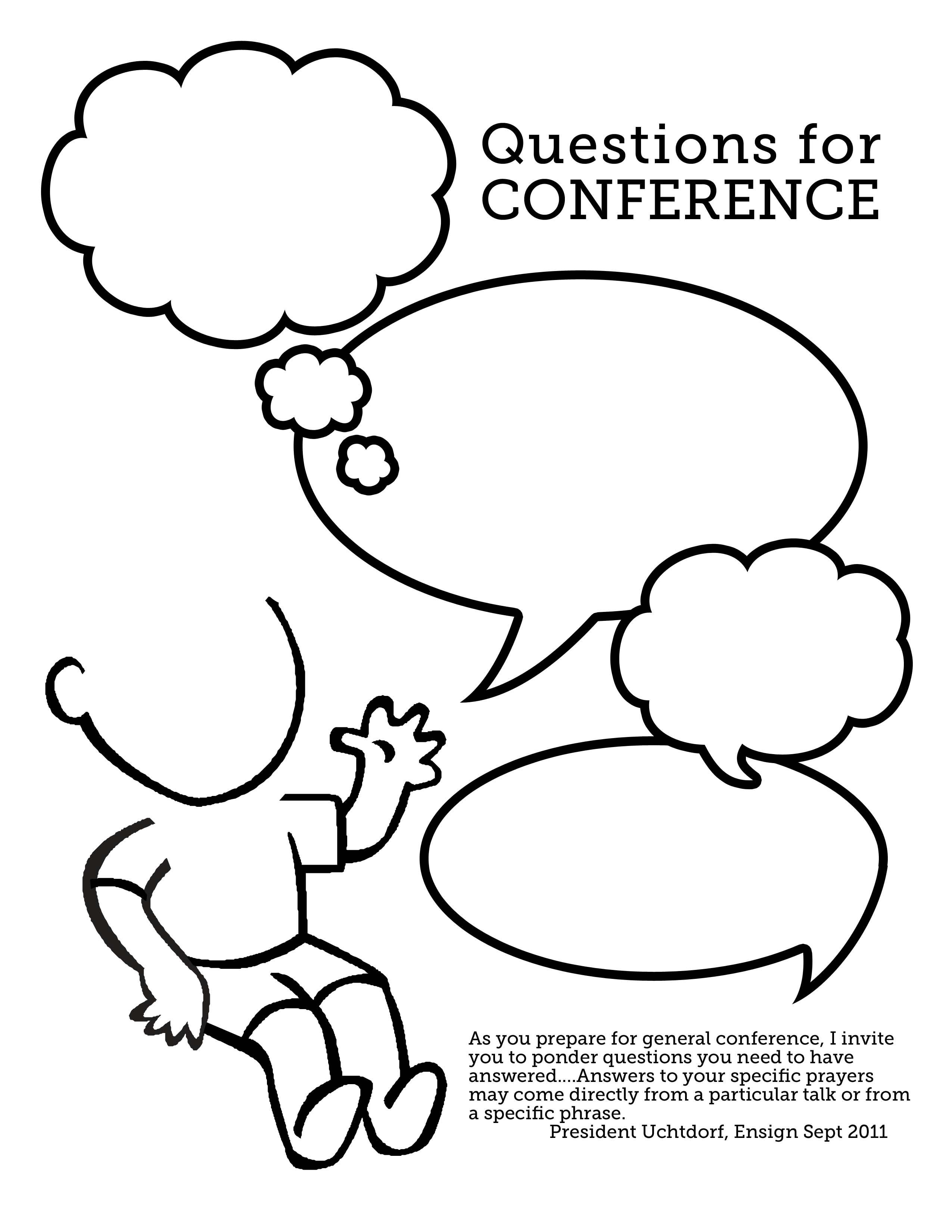 Questions For Conference For Kids Great For Fhe Before