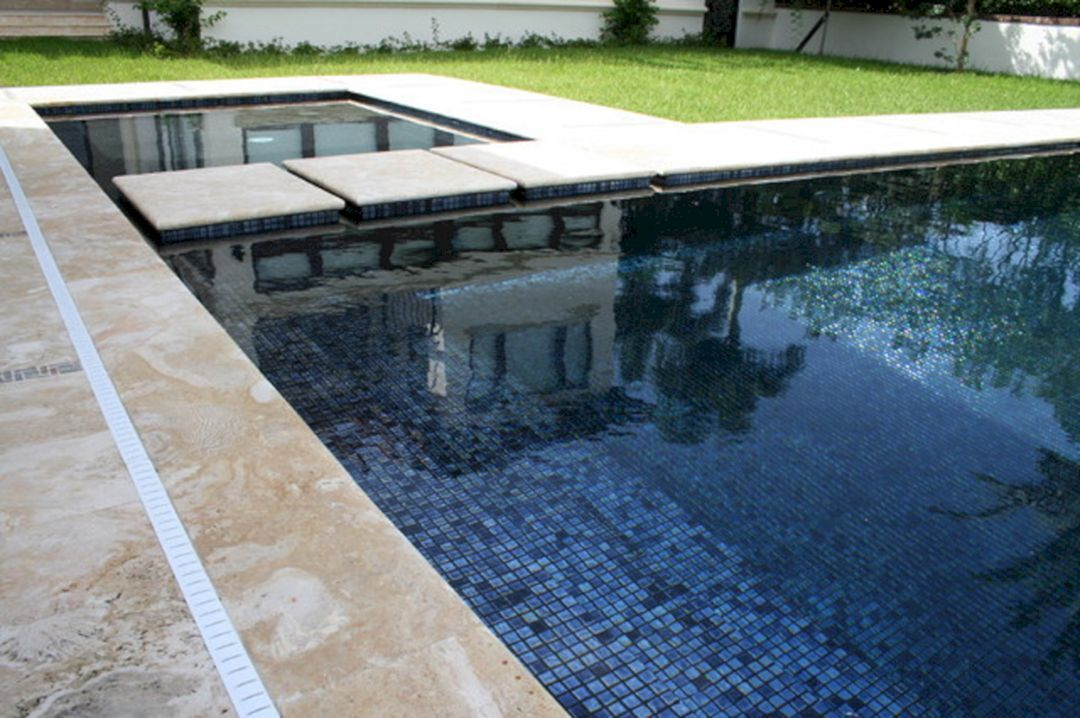 10+ Astonishing Swimming Pool Minimalist with Black Tile ...