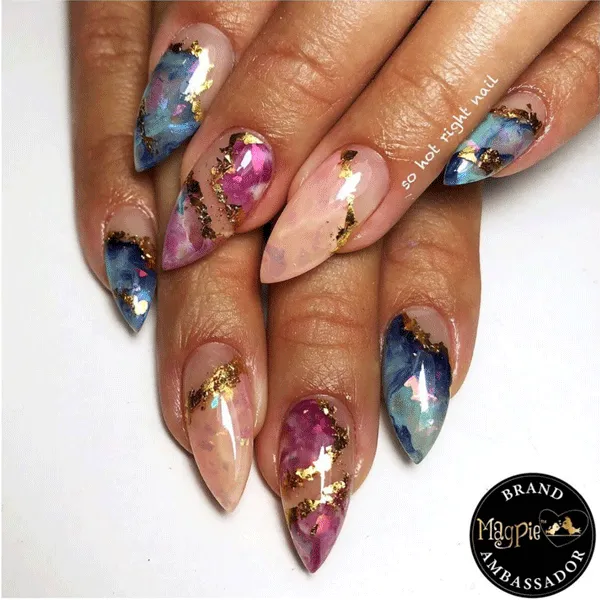 7 Crystal Nail Art Designs For Big 2020 Energy - Behindthechair.com