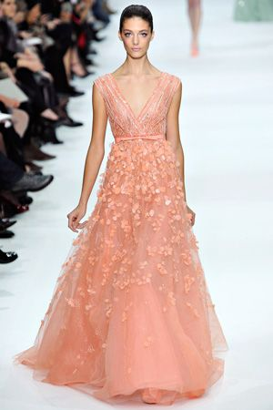 elie saab spring couture 2013 - brides of adelaide magazine - coloured wedding dress -  pastel