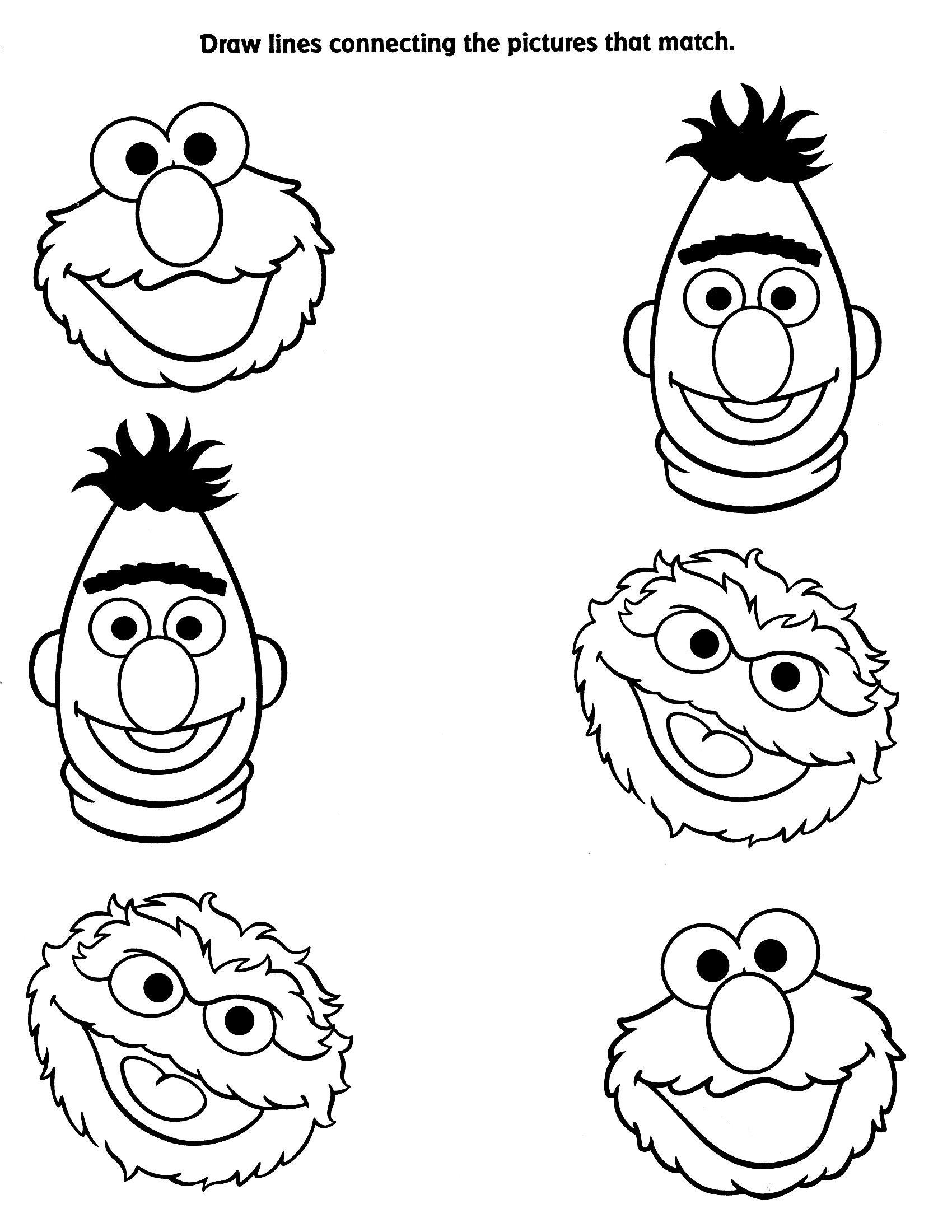 Pin By Julie Inskeep On Kindergeburtstag Sesame Street Coloring Pages Sesame Street Crafts Sesame Street
