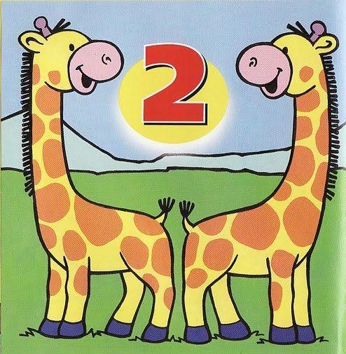 Карточки с цифрами (с изображениями)   Дошкольное обучение ...