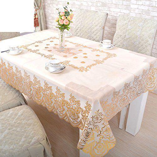 Pvc Table Cloth Continental Plastic Waterproof Tablecloths Anti