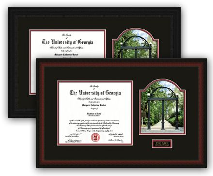 Classic View Arch UGA Diploma Frame with Classic View of the Arch ...