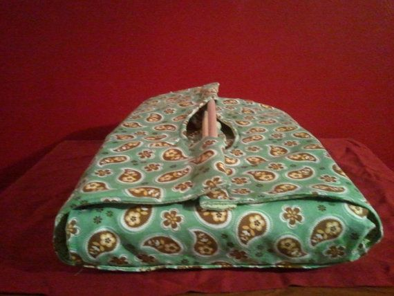 green and brown paisley casserole carrier by NurseswithNotions, $30.00