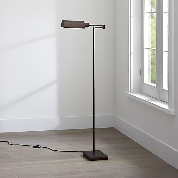 Wagner Bronze Pharmacy Floor Lamp   Crate and Barrel   Lighting ...