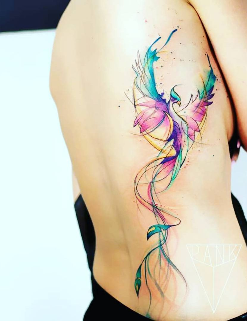 Watercolor Tattoos Will Turn Your Body Into A Living Canvas Watercolor Phoenix Tattoo Inspirational Tattoos Phoenix Tattoo Design