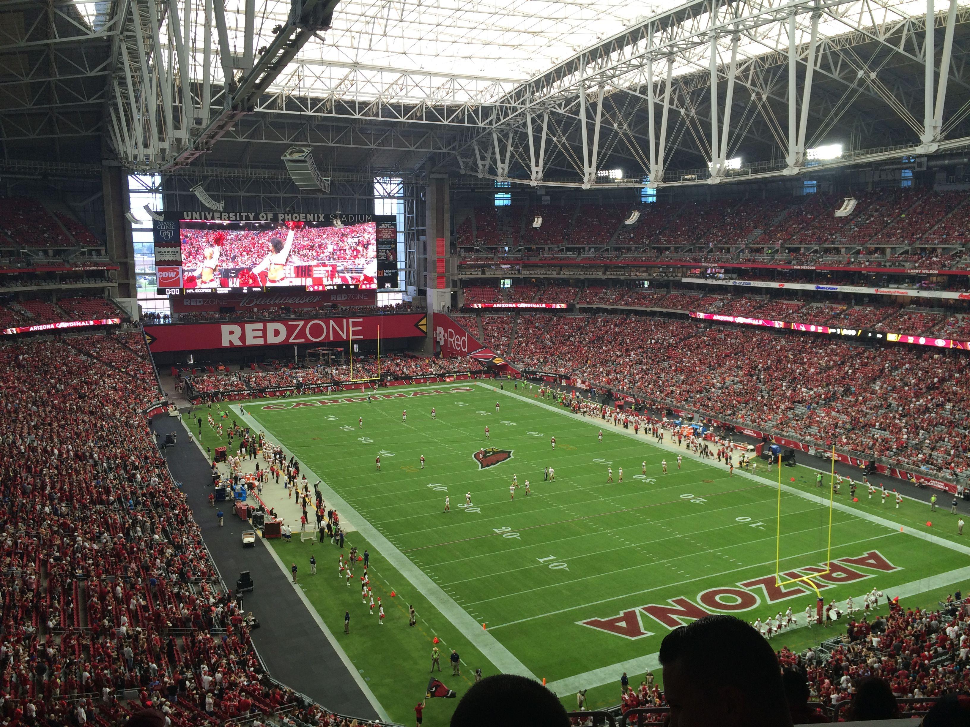 San Francisco 49ers 7 Arizona Cardinals 47 University Of Phoenix Stadium September 2 University Of Phoenix Stadium Nfl Stadiums San Francisco 49ers