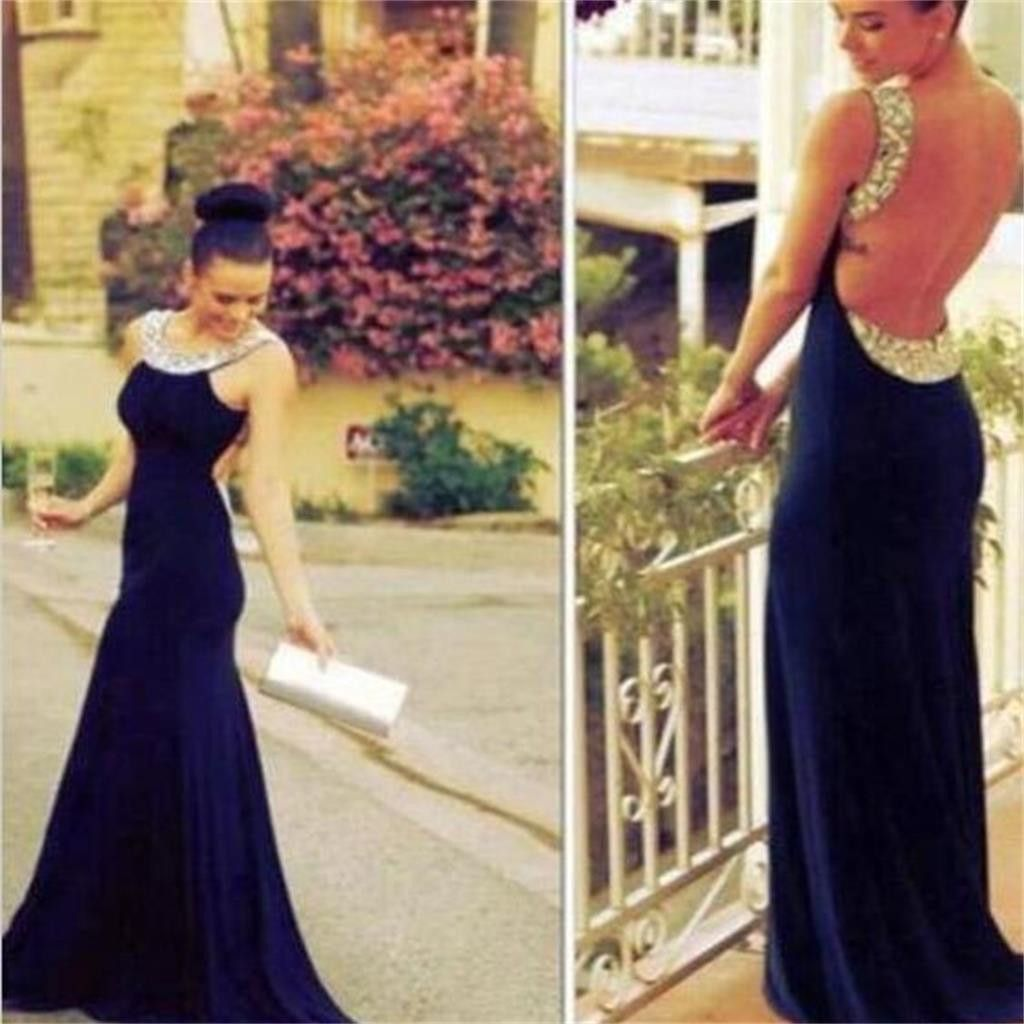 Mermaid prom dresses backless prom dresses sexy prom dresses
