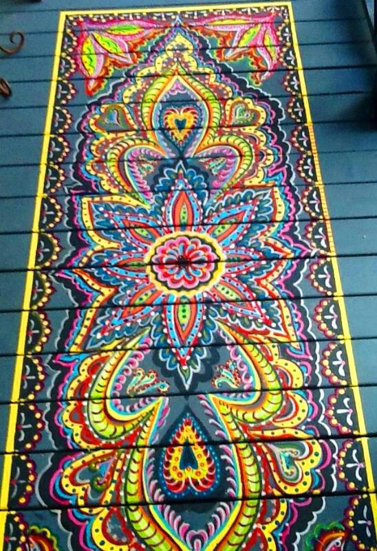 Painted on rug