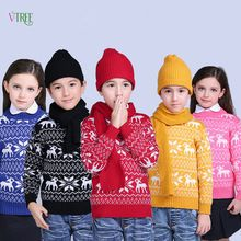 New Winter Children Boys Girls Sweater Knited Wool Kids Sweaters Teenage Baby Kids Outwear Warm Christmas Style Clothes 1-12Year(China (Mainland))