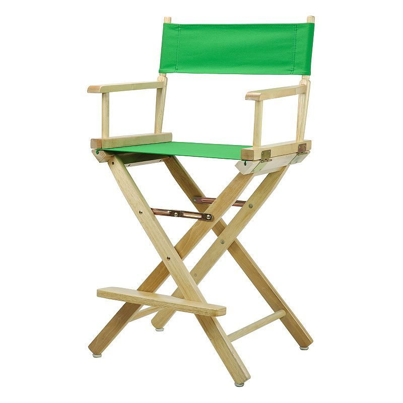 Casual Home 24-in. Natural Finish Director's Chair, Green