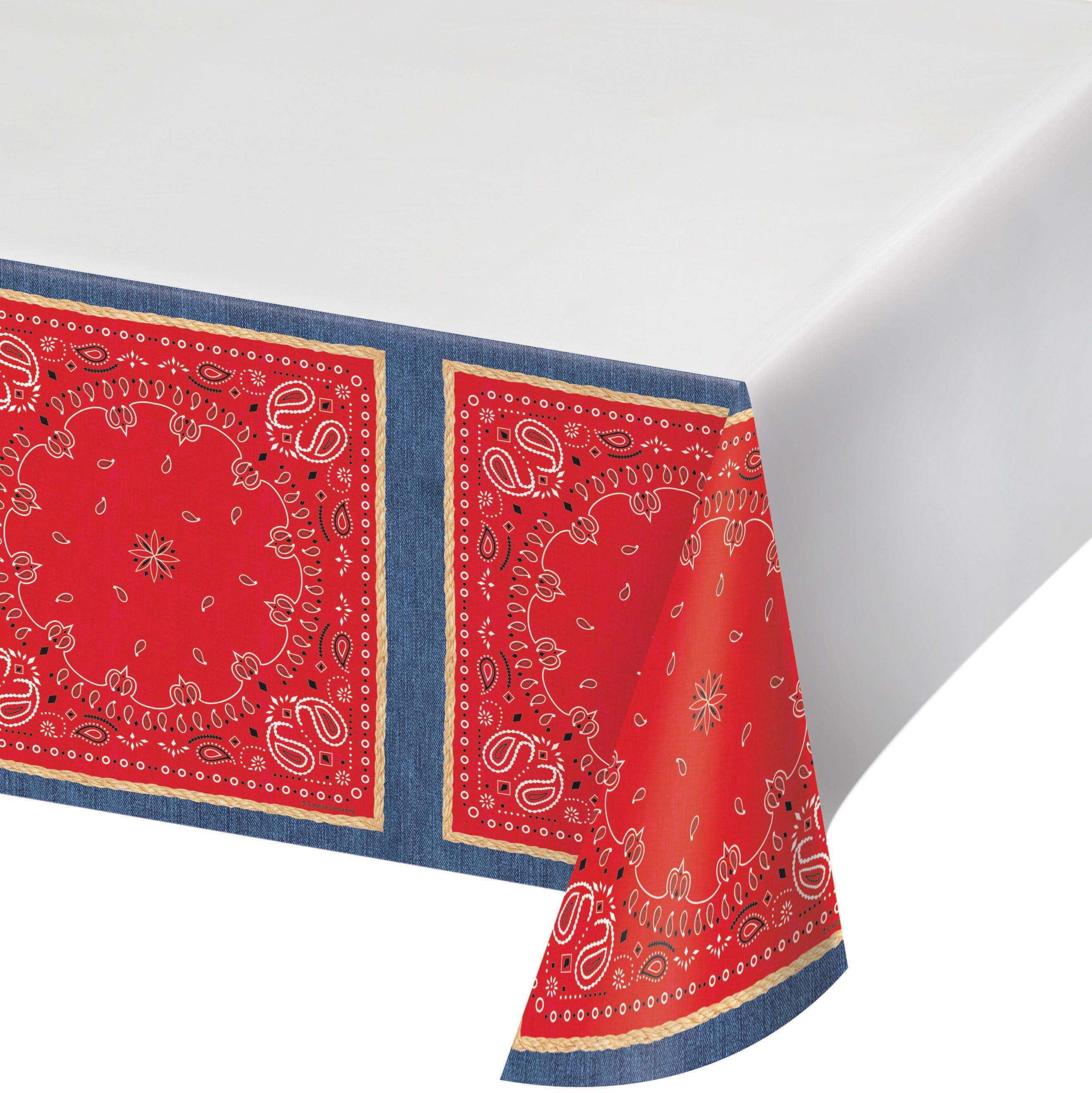 Paisley Print Plastic Table Cover Tablecloth Party Supplies 54 X 108 Inches