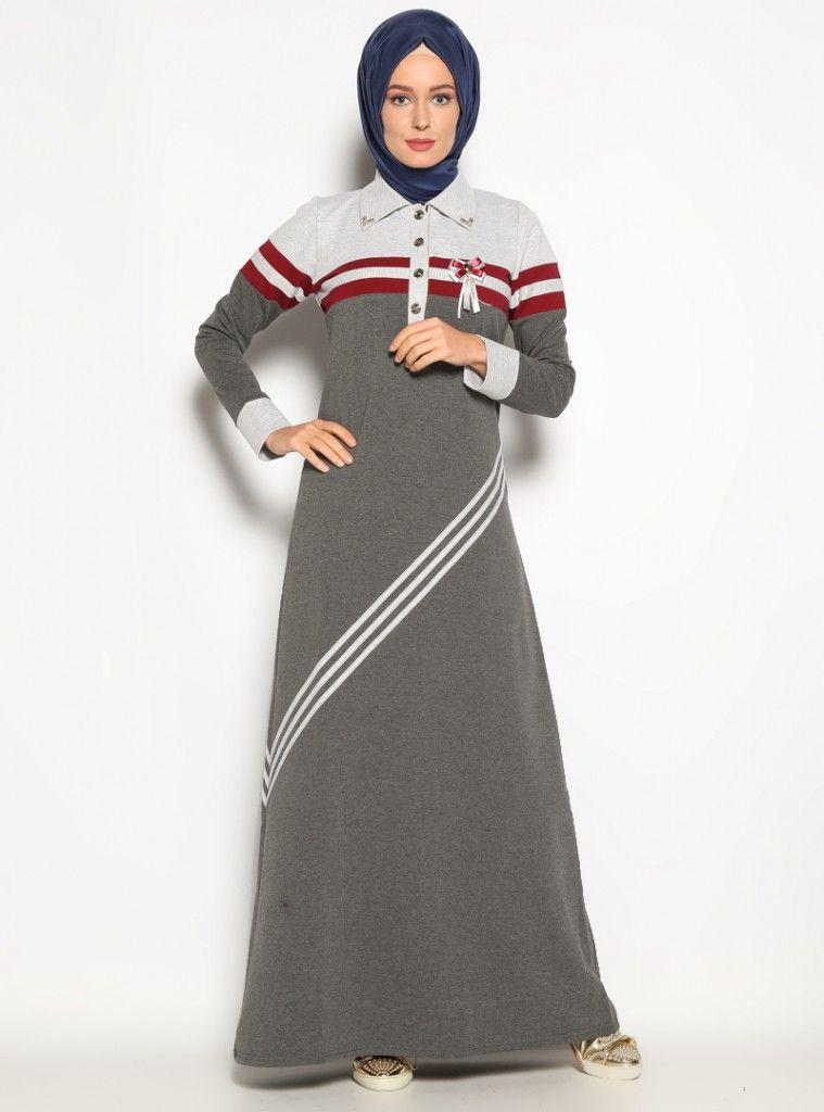 Spor Tesettur Penye Elbise Modelleri Islami Giyim Elbise Modelleri Elbise