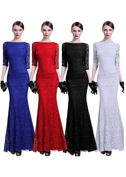 ce06676e2 Compre vestido madrinha longo de renda online | UFashionShop ...