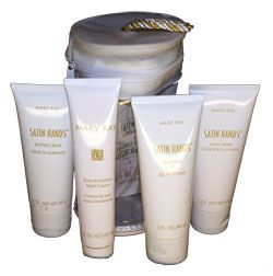 Mary Kay Satin Hands...this stuff is AMAZING. Your hands feel great after you go through the process.