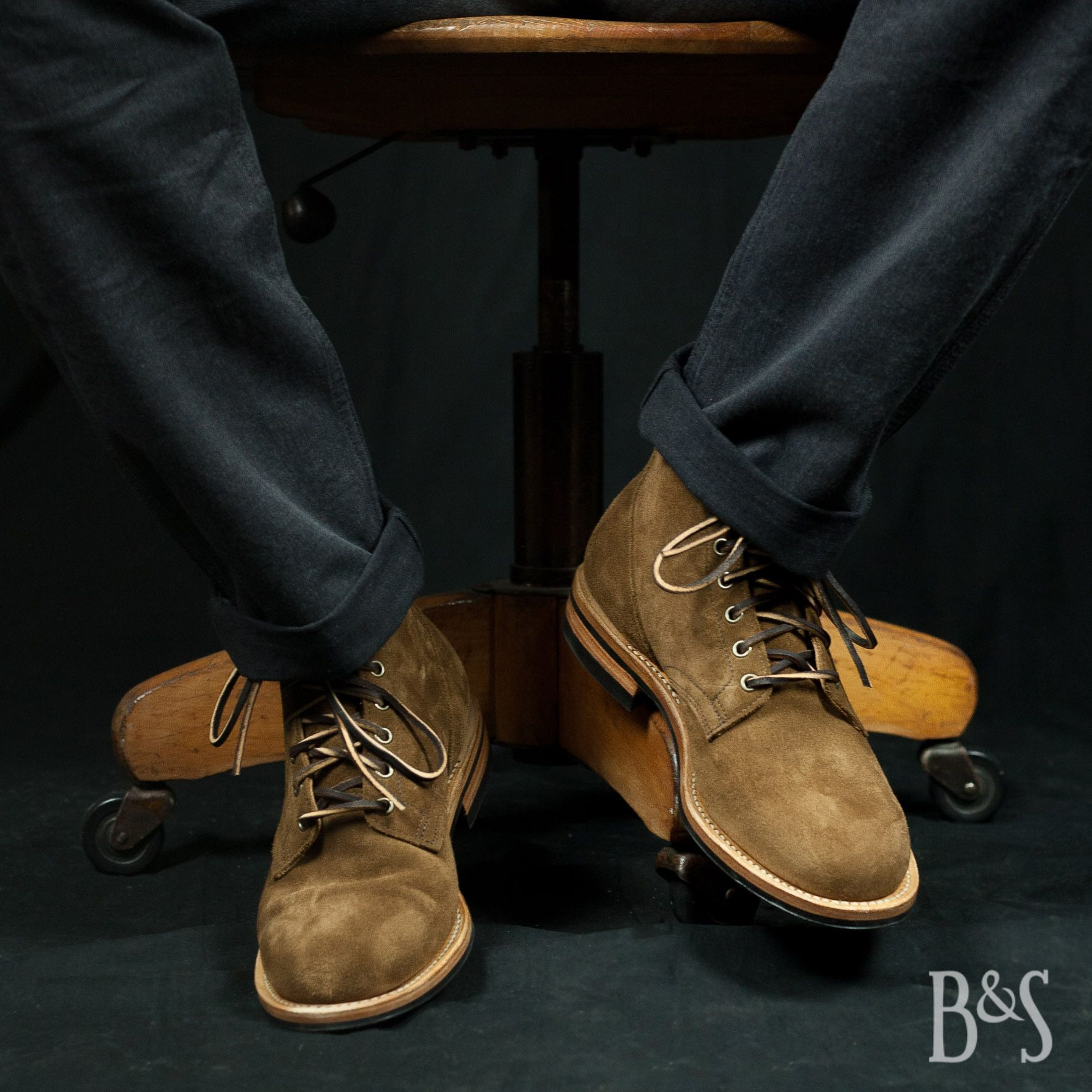 Service Boot Snuff Calf Suede by Viberg Things to Wear